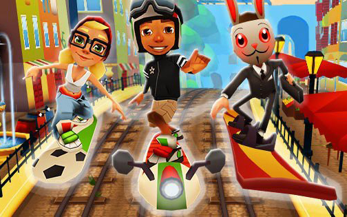 Subway Surfers chega a Roma